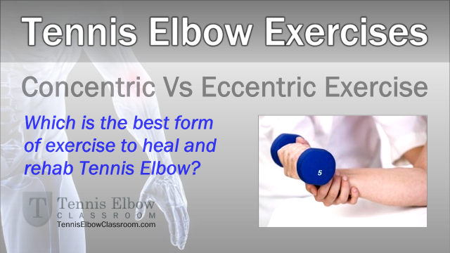 Are Eccentric Exercises Really Best For Tennis Elbow Rehab
