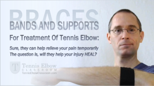 Does wearing a brace help Tennis Elbow heal?