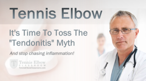 Inflammation is NOT the Cause of Tennis Elbow