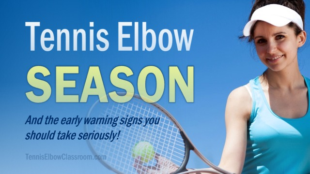 Symptoms and warning signs of Tennis Elbow