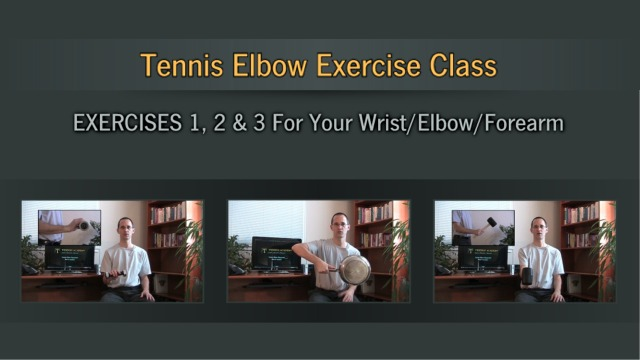 Tennis Elbow Self-Treatment Program - Exercises