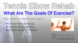 The Goals Of Exercise In Tennis Elbow Rehab